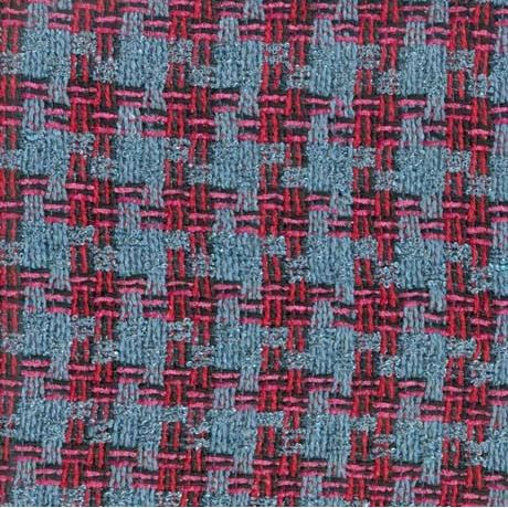 Linton Tweed sample blue and red