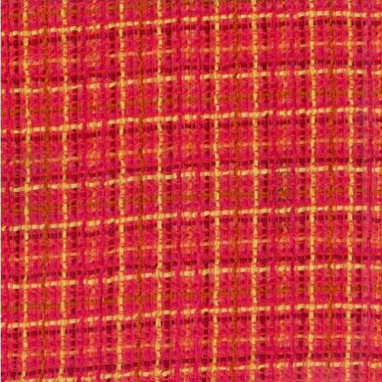 Linton Tweed sample red & yellow